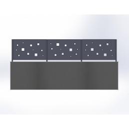 Clôture aluminium Cube