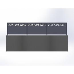 Clôture aluminium Mozaic