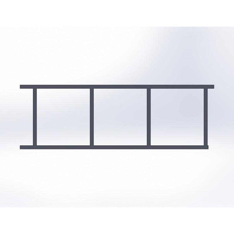 Portail coulissant 3 panneaux