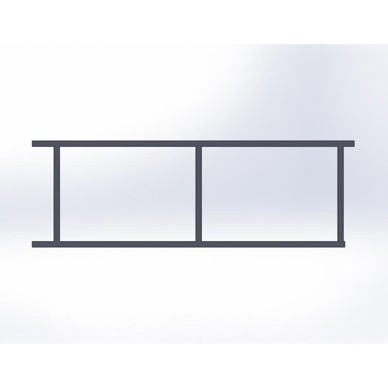 Portail coulissant 2 panneaux