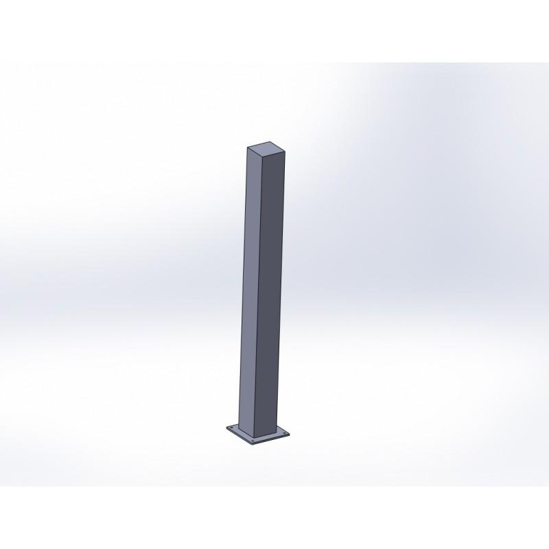 Poteau 150x150mm + platines à fixer