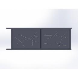 Portail coulissant aluminium Board