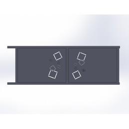 Portail coulissant aluminium Carra