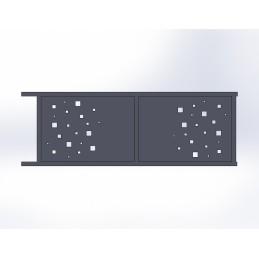 Portail coulissant aluminium Cube 2