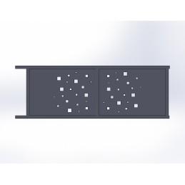 Portail coulissant aluminium Cube
