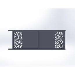 Portail coulissant aluminium Mozaic 2