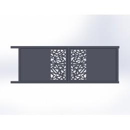 Portail coulissant aluminium Mozaic