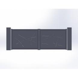 Portail battant aluminium Board