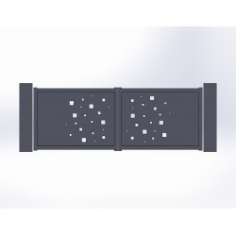 Portail battant aluminium Cube