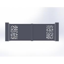 Portail battant aluminium Mozaic 2