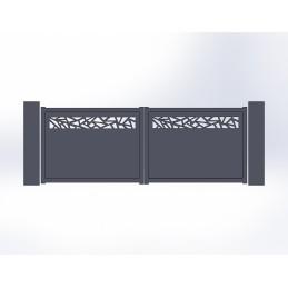 Portail battant aluminium Mozaic 3
