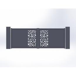 Portail battant aluminium Mozaic