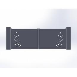 Portail battant aluminium Pool 2