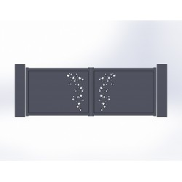 Portail battant aluminium Pool