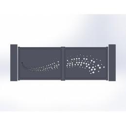 Portail battant aluminium Wave