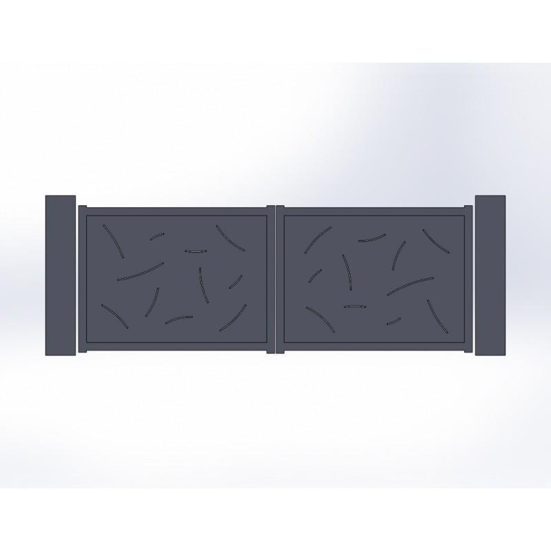 Fabrication portail battant