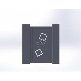 Portillon aluminium Carra