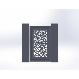 Portillon aluminium Mozaic